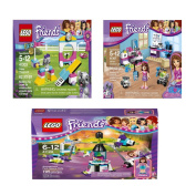 LEGO Friends Toy Bundle includes 41128, 41307, and 41303 Building Sets.