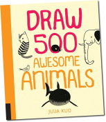 Draw 500 Awesome Animals , Educational Books Toys, 2017 Christmas Toys