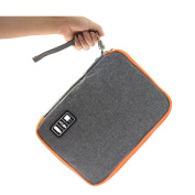 Double layer-Electronic Travel Organiser,Travel Universal Cable Organiser Electronics Accessories Cases/USB Cable Organiser Bag