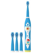 Electric Rechargeable Toothbrush ®Music Rechargeable Clean Teeth like a Dentist Waterproof USB Charging 3 Replacement Heads Sonic Technology Toothbrush Suitable for children