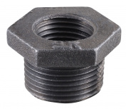 Southland 521-952HC 2.5cm X 1cm Black Hexagon Bushings