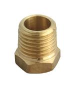 Jmf Hex Bushing 2.5cm Mpt X 1.3cm Fpt Yellow Brass Lead Free