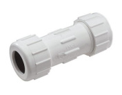 King Brothers CPC-1500 IPS SCH 40 PVC Compression Coupling, 2.5cm - 1.3cm