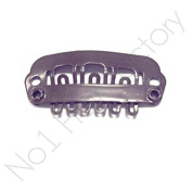 x 100 Hair Extension Snap Clips for Wig Weft 23mm / 2.3cm Dark Brown