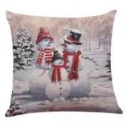 Pillow Case, NXDA Christmas Flax Throw Pillows Cover Decorative, 46cm x 46cm