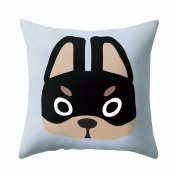 Pet Dog Pillow Cover Cute Cartoon Pillowcases for Kids,Aritone Throw Pillow Case Square Cushion Cover Home Sofa Decor 40cm40cm
