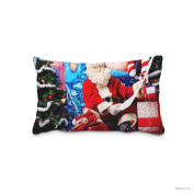 Christmas Tree Santa Gift Pillowcase 50cm x 90cm inch Two Sides Comfortable Zippered Pillow Cover Cases for Kids Family Gift