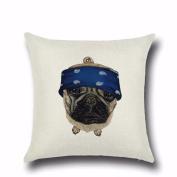 Pet Dog Pillow Creative Cartoon Pillowcases,Aritone Throw Pillow Case Square Cushion Cover Home Sofa Decor 46cm x 46cm