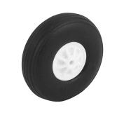 2mm Shaft Hole RC Plane EVA Tail Tyre Rubber Wheel Metric Size D40 H14