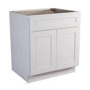 Design House 561365 Brookings 60cm Base Cabinet, White Shaker