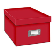 Pioneer Photo CD/DVD Storage Box (Solid Colours) Bright Red
