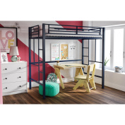 YourZone Metal Twin Loft Bed, Multiple Colours