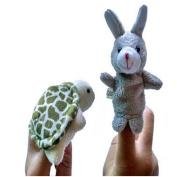 ManxiVoo 2pcs Animal Finger Puppet Plush Child Baby Early Education Toys Gift
