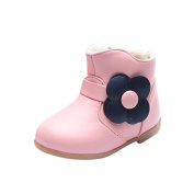 Pulison(TM) Children Warm Baby Girls Floral Martin Sneaker Boots Kids Baby Casual Shoes