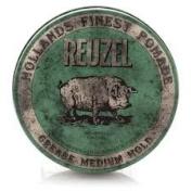 Reuzel Green Brilliantine for Rockabilly Hair Tenuta Media Wax to Base of Oil 120ml – 113 gr