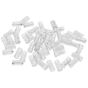 MagiDeal 50pcs Hair Ring Braiding Clips Dreadlock Cuffs Clip Beads For Braiding Hair - Silver, as described