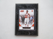 Marquese Chriss Phoenix Suns Prestige Threads NBA 2016-17 rookie player card mounted on a 10cm x 15cm black marble plaque