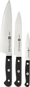 """Zwilling Knife Set """"Gourmet"""" 3 Parts, Silver/Black"""