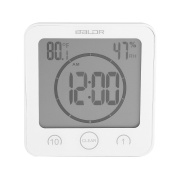 Bathroom Clock Waterproof Shower Clock Timer Suction Cup Digital LCD Display Thermometer Hygrometer Silent Wall Clock Timer Kitchen Bathroom