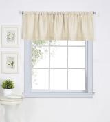 Elrene Home Fashions 026865775426 Solid Hemstitched Rod Pocket Valance Kitchen/Cafe Window Curtain, 150cm x 38cm , Ivory