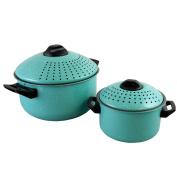 Casselman 4 pc Pasta Pot Set, Turquoise
