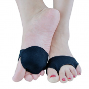 Welnove Black Metatarsal Foot Pads Mortons Neuroma, Anti-Slip Ball of Foot Cushions, Pain Relief for Men and Women (1Pair) (