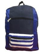 K-Cliffs Contrast Backpack 46cm School Book Bag Daypack Navy