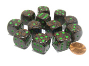 Chessex Speckled 16mm D6 Dice Block (12 Dice) - Earth #25710
