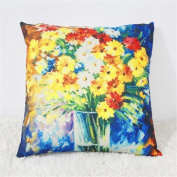 Wmshpeds Oil painting home pillow sets of car office multi-function by cushion waist sets