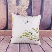 Wmshpeds Chinese wind orchid cotton linen pillow pillow multi - functional sofa home waist cushion sets