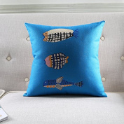 Baozengry The Elephant Sofa Pillow Cotton Cushion Pillow Waist By Nordic Geometric Style Painting,45X45Cm Core,Q5295