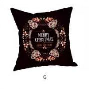 Pillow Case, NXDA Christmas Golden Fireworks Flax Throw Pillows Cover Decorative, 46cm x 46cm