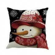 Pillow Case, NXDA Christmas Snowman Flax Throw Pillows Cover Decorative, 46cm x 46cm
