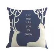 Pillow Case, NXDA Christmas Santa elk Flax Throw Pillows Cover Decorative, 46cm x 46cm