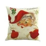 Pillow Case, NXDA Christmas Santa Claus Flax Throw Pillows Cover Decorative, 46cm x 46cm