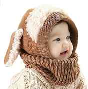 ZZLAY Lovely Baby Winter Hat Scarf Earflap Hood Scarves Skull Caps Warm Knit Face Cover Balaclava