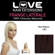 Love Hair Extension Human Hairs Clip In Side Fringe, Colour 1B Natural Black