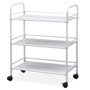 Outdoortips 3-Tier Beauty Salon Storage Cart Dentist Wax Treatment Tattoo Shelf Trolley