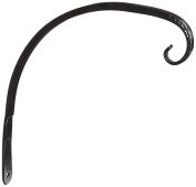 Panacea 89408 Forged Curved Hook Wrought Iron Hanger, Black, 20cm