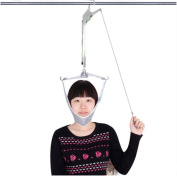 D & F Cervical Neck Traction Device - Instant Relief for Chronic Neck Pain - provides Shoulder Support & Posture Improvement - Adjustable Spine Alignment Collar