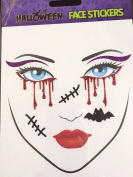 Halloween Glitter Face Tattoo Stickers Creepy Temporary Body Art Festival Fun Make up Dressing up Carnival- Halloween Latest Must have Accessory