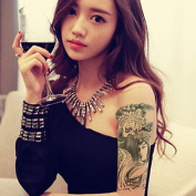MZP Facebook Artistes Waterproof Flower Arm Temporary Tattoos Stickers Non Toxic Glitter