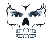 COKOHAPPY Day of the Dead Sugar Monster Skull Temporary Face Tattoo Kit - Pack of 2 Kits