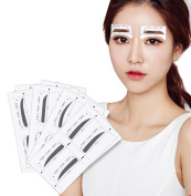32Pairs Eyebrow Grooming Stencil Card-Eyebrow Shaping Tools Templates DIY Makeup Beauty Accessories