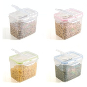 Cereal Tubs Strong Clip and Close Food Containers Assorted Colours Set of 3 Large or 4 Medium