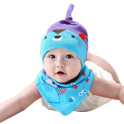 Originaltree 2Pcs Baby Toddler Cartoon Bear Hat + Triangle Towel Bib Set 0-8 Months