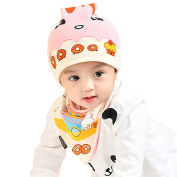 Originaltree Adorable Newborn Baby Cartoon Donut Cap + Bib Set