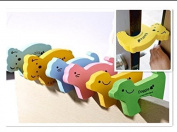 F-eshion Baby safety Foam Door Stoppers With Cute Animal Designs 6X Mixed colour