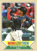 2017 Topps Heritage High Numbers Now and Then #NT-4 Francisco Lindor Cleveland Indians Baseball Card