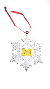 MICHIGAN WOLVERINES NCAA SNOWFLAKE CHRISTMAS ORNAMENT